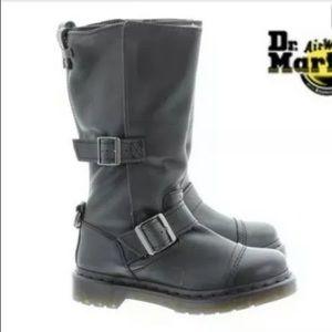 Dr Martens Kathleena Leather Buckle Boots